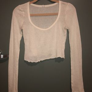 Out From Under Cropped Long Sleeve